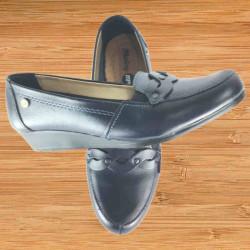 Zapato Casual Plato Liso Negro